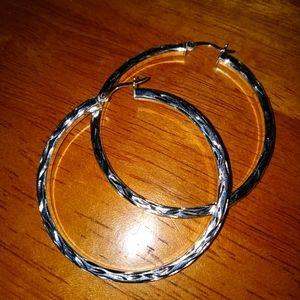 Sterlin Silver hoop earrings